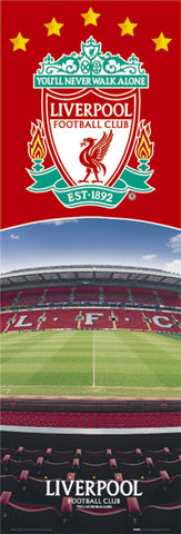 "Liverpool FC ""Inside Anfield"" Team Crest Logo Theme 12x36 Poster - GB Eye (UK)"