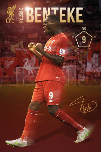 "Christian Benteke ""Signature Series"" Liverpool FC Official EPL Soccer Poster - GB Eye 2015/16"