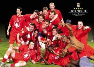 "Liverpool FC ""Celebration Istanbul"" Soccer Poster - GB Posters 2005"