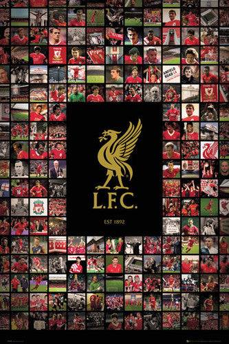 "Liverpool FC ""Matrix"" Official Team Crest History Poster - GB Eye (UK)"