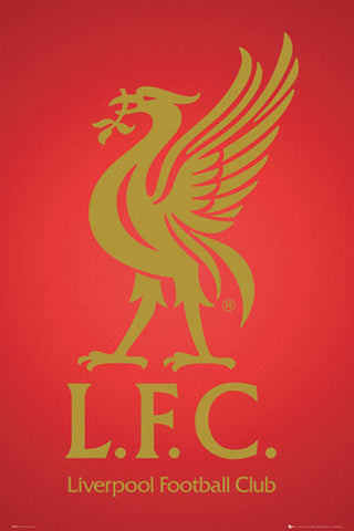 "Liverpool FC ""Golden Bird"" Official Team Logo Crest Poster - GB Eye 2012"