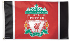 Liverpool FC Team Crest Logo Official EPL Soccer DELUXE 3'x5' Team Flag - Wincraft Inc.