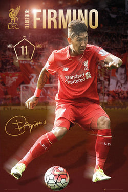 "Roberto Firmino ""Signature Series"" Liverpool FC Official EPL Soccer Football Poster - GB Eye 2015/16"