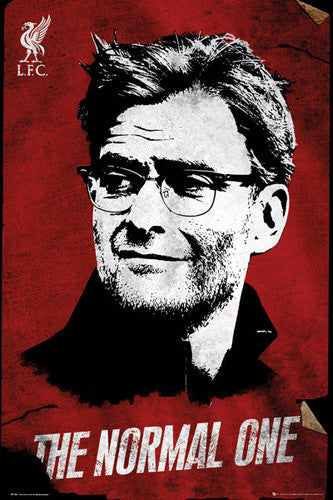 "Jurgen Klopp ""The Normal One"" Liverpool FC Manager Official EPL Football Poster - GB Eye 2016/17"