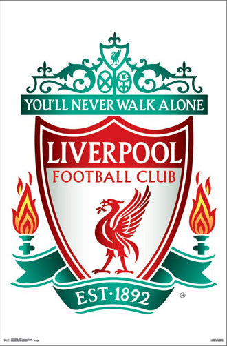 Liverpool Reds FC Official Club Crest EPL Team Logo Poster - Trends International