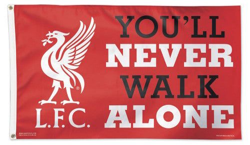 Liverpool FC Team Motto and Logo Official EPL Soccer DELUXE 3'x5' Team Flag - Wincraft Inc.