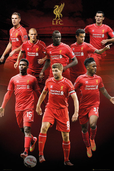 "Liverpool FC ""Big Eight"" Official EPL 8-Player Soccer Poster - GB Eye (UK)"