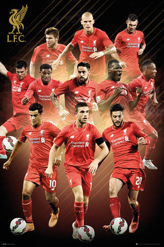 "Liverpool FC ""Superstars"" (11 Players In Action) Official EPL Soccer Poster - GB Eye 2015/16"