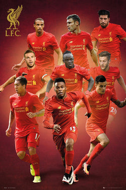 Liverpool FC 9-Players In Action Official EPL Soccer Football Poster - GB Eye 2016/17
