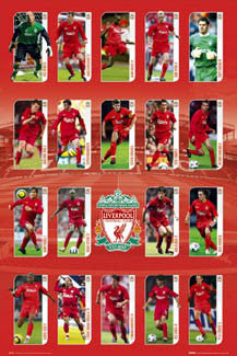 "Liverpool FC ""Super 19"" - GB Posters 2005"