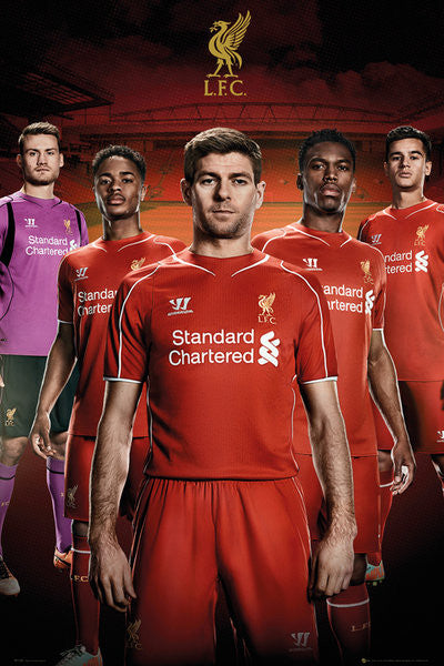 "Liverpool FC ""Stand Tall"" Official EPL 5-Player Soccer Poster - GB Eye (UK)"
