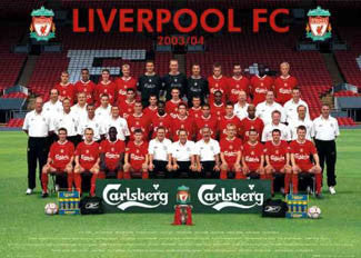 Liverpool FC Team Portrait 2003/04 Poster - GB Posters