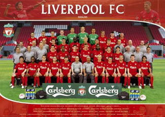 Liverpool FC Official Team Portrait 2004/05 Poster - GB Posters