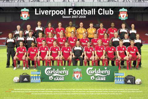Liverpool FC Official Team Portrait 2007/08 Poster - GB Posters