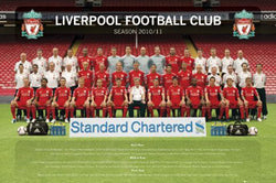 Liverpool FC 2010/11 Official Team Portrait Poster - GB Eye