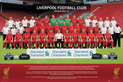 Liverpool FC 2012/13 Official Team Portrait Poster - GB Eye (UK)