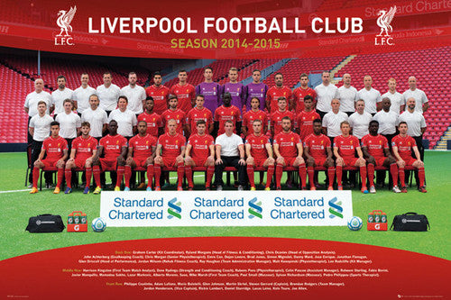 Liverpool FC Official EPL Soccer Team Portrait 2014/15 Poster - GB Eye (UK)