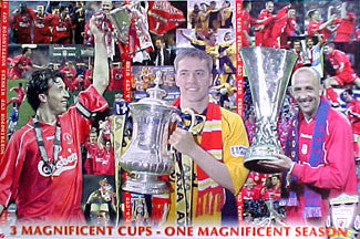 "Liverpool F.C. ""Three Cups"" - U.K. 2001"