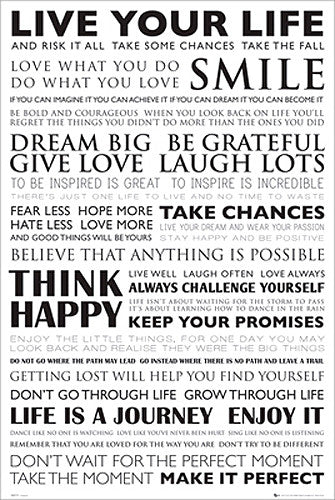Live Your Life Motivational Inspirational Poster - GB Eye Inc.
