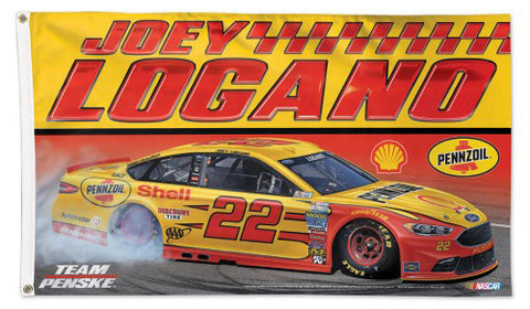 Joey Logano Pennzoil #22 Official NASCAR Deluxe 3'x5' Banner Flag - Wincraft Inc.