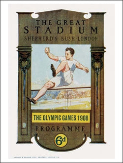 London 1908 Summer Olympic Games Official Poster Reprint - Olympic Museum