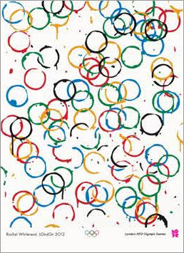 *SHIPS JUNE 2018* London 2012 Summer Olympic Games Official Poster (Rachel Whiteread's LOndOn 2012) - Olympic Museum