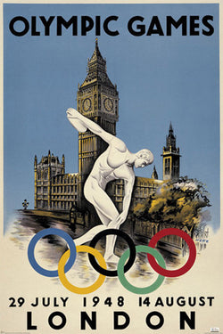 London 1948 Summer Olympic Games Official Poster (2012 Reprint Edition)