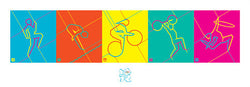 "London 2012 Olympics ""Dynamic Pictograms"" Print - Pyramid (UK)"