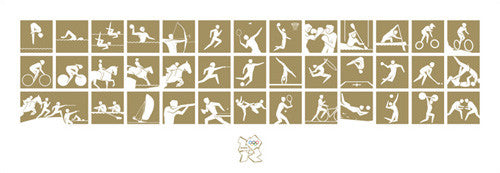 "London 2012 Olympics ""Gold Pictograms"" Print - Pyramid (UK)"