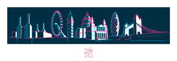 "London 2012 Olympics ""Skyline"" Print - Pyramid (UK)"