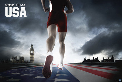 "London 2012 Team USA ""American Runner"" Official Poster - Pyramid America"