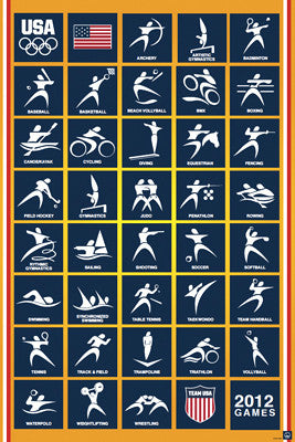 London 2012 Olympics Team USA Sport Pictograms - Pyramid America