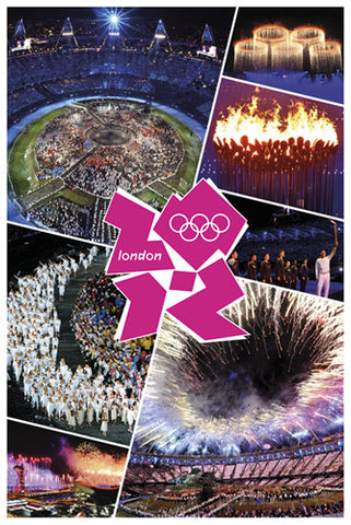 London 2012 Olympics Opening Ceremony Commemorative Poster - Pyramid (UK)