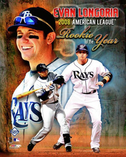 Evan Longoria Tampa Bay Rays 2008 American League Rookie of the Year Commemorative Poster - Photofile 16x20
