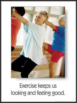 "Seniors Fitness ""Looking and Feeling Good"" Motivational Poster - Fitnus"