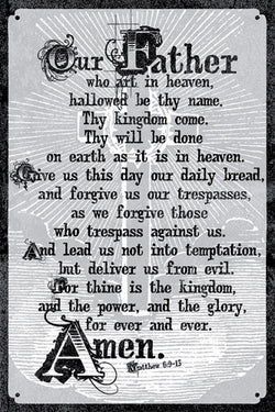 The Lord's Prayer Poster (Matthew 6:9-13) - Slingshot