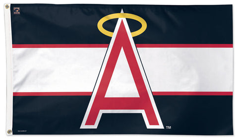 "California Angels ""Big-A"" Style (1972-92) Cooperstown Collection MLB Baseball Deluxe-Edition 3'x5' Flag - Wincraft"