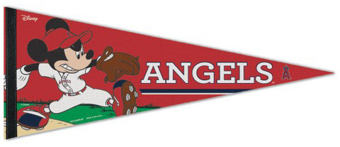 "Los Angeles Angels ""Mickey Mouse Flamethrower"" Official MLB/Disney Premium Felt Pennant - Wincraft Inc."
