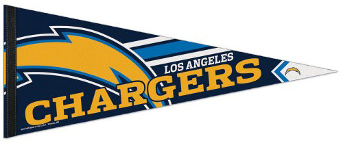 Los Angeles Chargers Football Official NFL Logo-Style Premium Felt Pennant - Wincraft Inc.