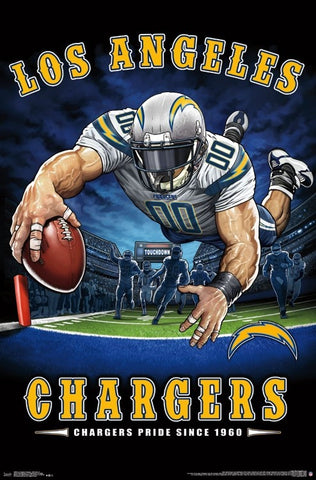 "Los Angeles Chargers ""Chargers Pride Since 1960"" NFL Theme Art Poster - Liquid Blue/Trends Int'l."