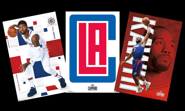 Los Angeles Clippers NBA Basketball 3-Poster Combo (Kawhi Leonard, Paul George, Team Logo)
