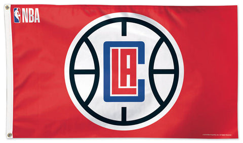 Los Angeles Clippers Official NBA Basketball DELUXE 3' x 5' Flag (Red) - Wincraft Inc.
