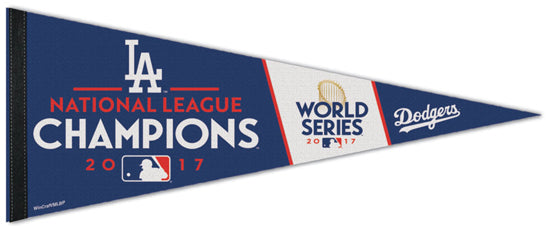 Los Angeles Dodgers 2017 National League Champions Official MLB Baseball Team Premium Felt Pennant - Wincraft Inc.