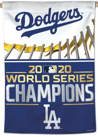 Los Angeles Dodgers 2020 World Series Champions Premium 28x40 Wall Banner - Wincraft Inc.