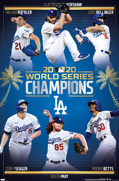 Los Angeles Dodgers 2020 World Series CHAMPIONS 6-Player Commemorative Poster - Trends International