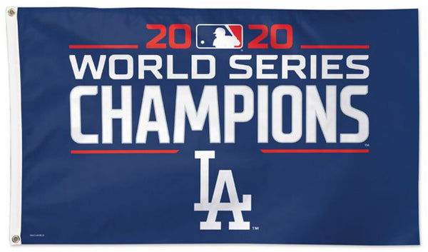 Los Angeles Dodgers 2020 World Series Champions Official MLB Baseball DELUXE 3'x5' Team Flag - Wincraft Inc.