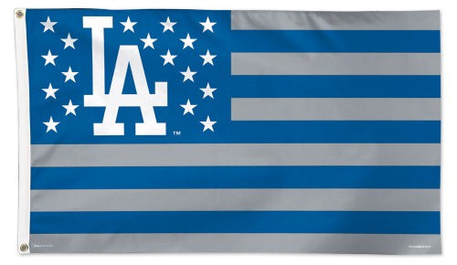 Los Angeles Dodgers Stars-and-Stripes Official MLB Baseball Team DELUXE-EDITION 3'x5' Flag - Wincraft Inc.