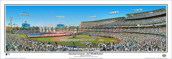 "Los Angeles Dodgers ""World Series Majesty 2017"" Dodger Stadium Panoramic Poster Print - Everlasting Images"