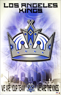 "Los Angeles Kings ""We are Your Team"" Official Team Logo Theme Art Poster - Starline 2003"