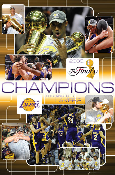 Los Angeles Lakers 2009 NBA Championship Celebration Commemorative Poster - Costacos Sports